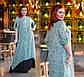 """Элегантное длинное женское платье в больших размерах 1373 """"Батист Птички Комби Контраст"""" в расцветках, фото 3"""