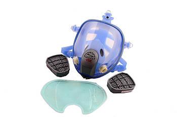 Респиратор-маска Vita - Химик-3 с двумя фильтрами химическими под байонет, силиконовая оправа