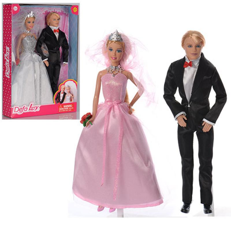 Набор кукол семья - кукла типа барби и кен Жених и Невеста, серия Дефа Defa, 8305