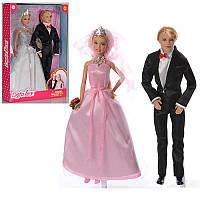Набор кукол семья - кукла типа барби и кен Жених и Невеста,серия Дефа Defa,8305