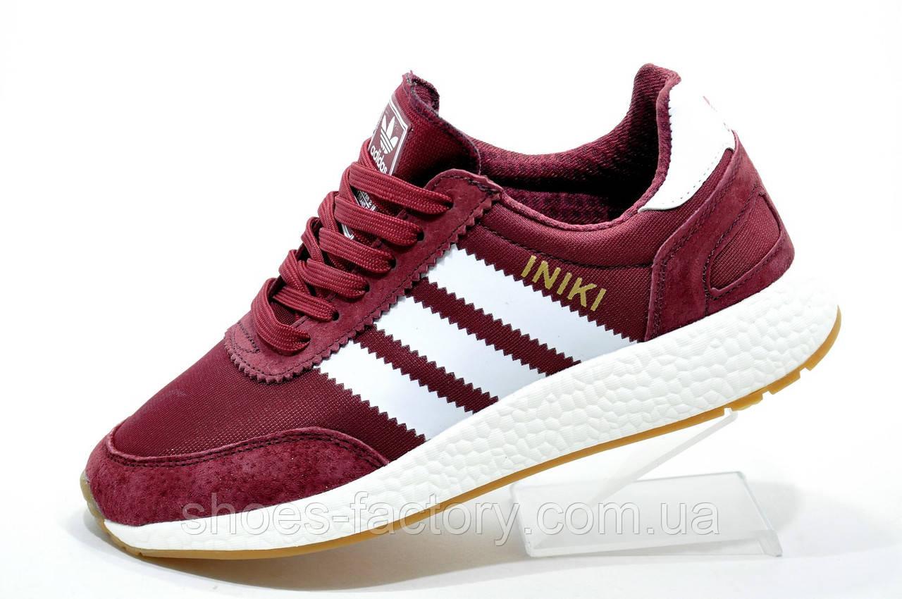 Кроссовки женские в стиле Adidas Originals Iniki Runner, Бордо