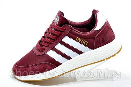 Кроссовки женские в стиле Adidas Originals Iniki Runner, Бордо, фото 2