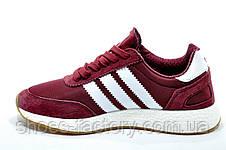 Кроссовки женские в стиле Adidas Originals Iniki Runner, Бордо, фото 3