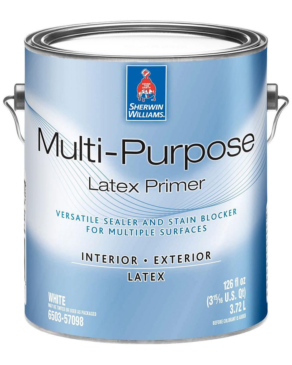 Грунтовка Multi-Purpose Latex Primer Sherwin-Williams белая, 3,72л (грунт мульти пурпоз шервин вильямс)