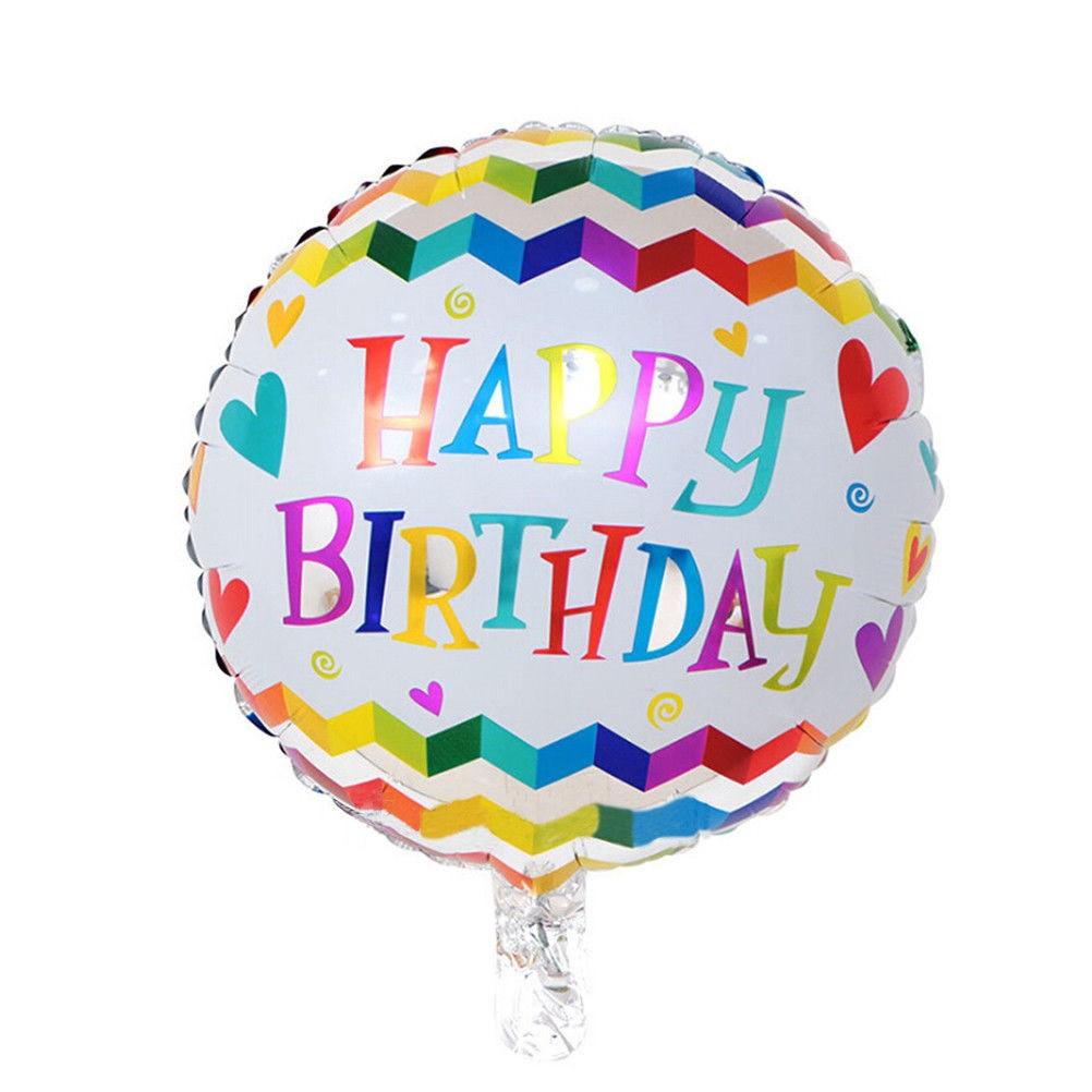 Фольгированный круглый шар, HAPPY BIRTHDAY 07 - 44 см (18 дюймов)