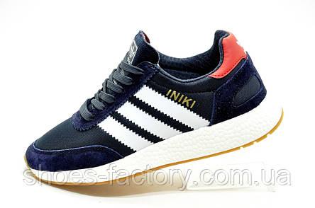 Кроссовки унисекс в стиле Adidas Originals Iniki Runner, Dark blue, фото 2
