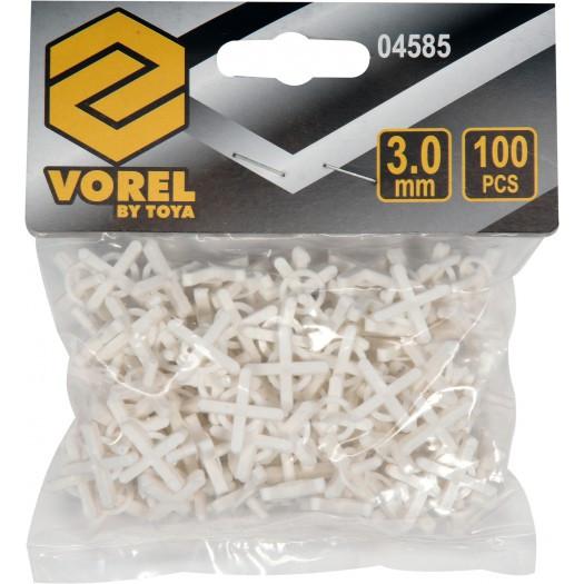 Крестики дистанционные для плитки тип U 3 мм 100 шт - VOREL