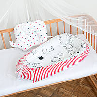 "Гнездышко-кокон для новорожденных ""Red Stripes"""