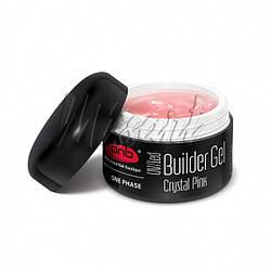 Гель прозрачно-розовый One Phase Builder Gel Crystal Pink PNB 15 мл
