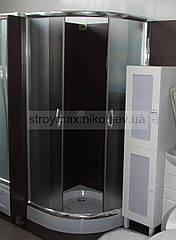Душова кабіна SANTEH 9001F (90*90*195 см) піддон 15 см хром/фабрик
