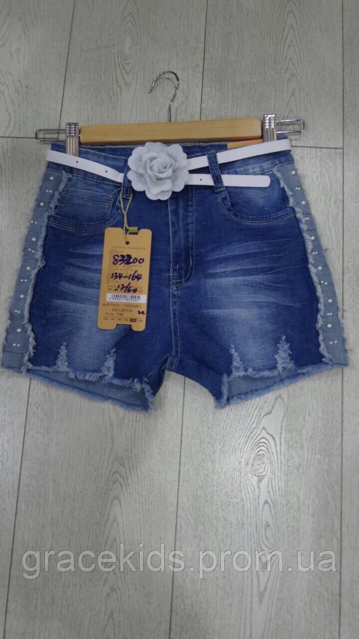 Джинсовые шорты для девочек подростковые GRACE,разм 134-164 см