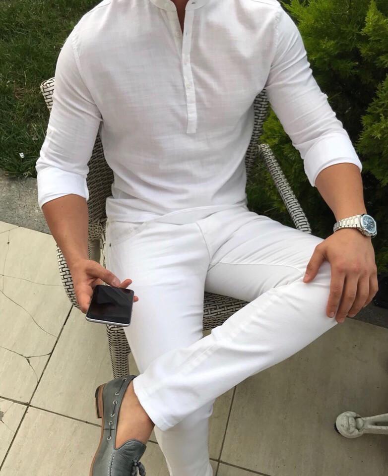 """Мужская рубашка без бренда """"White"""""""