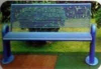 Скамейка со спинкой Т-6301