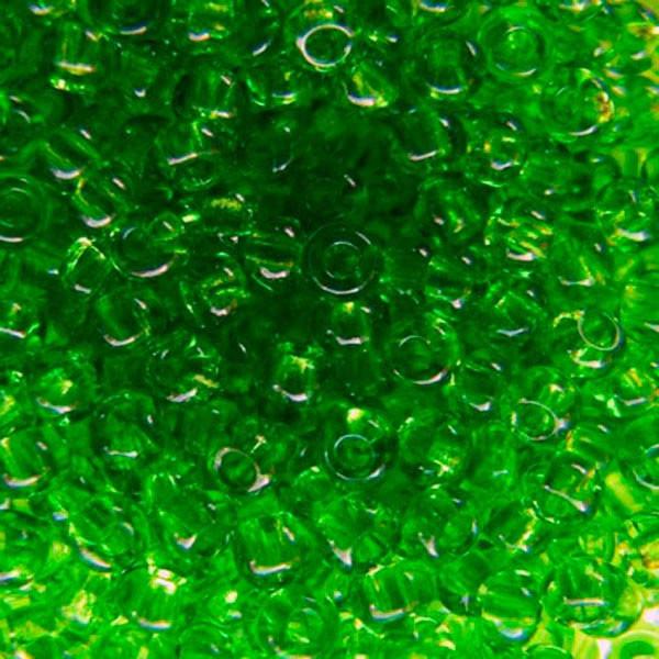 Чешский бисер для рукоделия Preciosa (Прециоза) оригинал 50г 31119-50430-10 зеленый