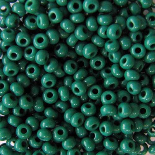 Чешский бисер для рукоделия Preciosa (Прециоза) оригинал 50г 31119-53240-10 зеленый