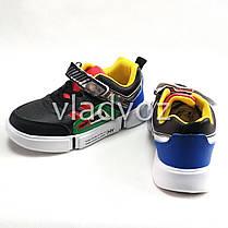 Детские кроссовки для мальчика черный с желтым 31р., фото 3