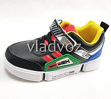 Детские кроссовки для мальчика черный с желтым 31р., фото 2