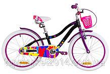 """Дитячий велосипед з кошиком AL FORMULA CREAM 20"""" (чорно-фіолетовий)"""