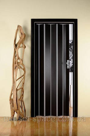 Дверь гармошкой глухая. Цвет: венге 2030мм/810мм/6мм, фото 2
