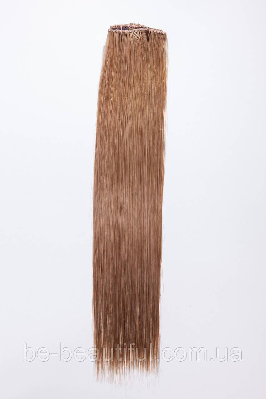 №1. Набор из 8 прядей (термоволокно), цвет пшенично-золотистый