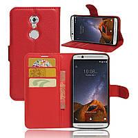 Чехол-книжка Litchie Wallet для ZTE Axon 7 Mini Красный