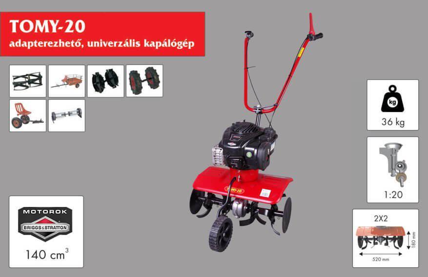 Культиватор бензиновий Szentkiraly Tomy-20 Briggs&Stratton 500 Series