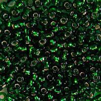 Бисер для вышивания Preciosa (Прециоза) Чехия  оригинал 50г 33119-57120-10 Зеленый