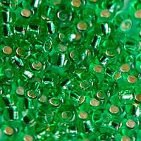 Бисер для вышивания Preciosa (Прециоза) Чехия  оригинал 50г 33119-57100-10 Зеленый