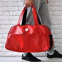 0221d01fc22d Спортивная сумка Ferrari 114649 багажная дорожная искусственная кожа  плечевой ремень 50см х 30см х 25см Красный