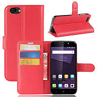 Чехол-книжка Litchie Wallet для ZTE Blade A6 Lite Красный