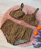 Купальник женский раздельный батал леопард 54, 56, 58