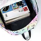 Рюкзак для девочки с единорогами розовый и серый., фото 4