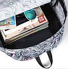 Рюкзак для девочки с единорогами розовый и серый., фото 7