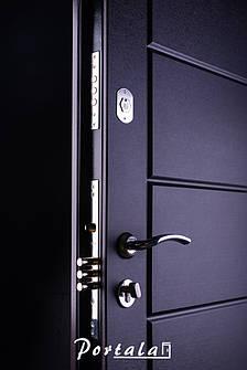 Двери уличные, серия Люкс, крашенный МДФ, модель Токио, гнутый профиль, коробка 100 мм, полотно 76 мм, Гардиан, фото 2