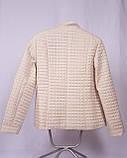 Стеганая куртка демисезонная бежевая большие размеры, фото 3