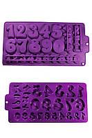 Силиконовая форма для изомальта и шоколада Цифры двух размеров и знаки