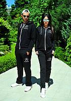 Женский спортивный  костюм  Mercedes-Benz  чёрный.цена за один костюм