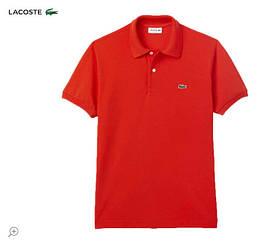 """Мужская футболка Lacoste Polo Rood Slim Fit """"Red"""" ( в стиле Лакоста )"""