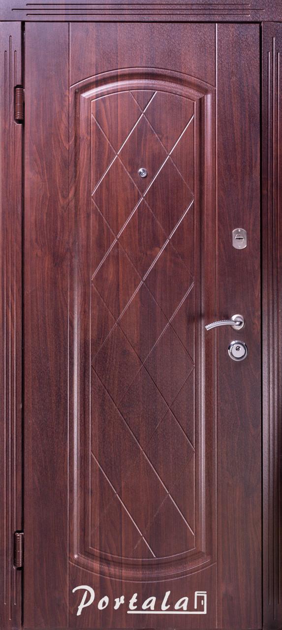 Двери уличные, серия Люкс, VINORIT, модель Шампань, гнутый профиль, коробка 100 мм, полотно 76 мм, Гардиан