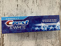 Зубная паста с мягким отбеливанием Crest 3D White Foaming Clean, 136грамм