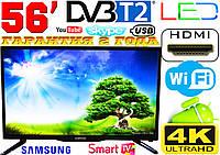 "Телевизор 56"" Samsung SmartTV LED! 4K UltraHD, IPTV, Android, T2, WIFI, USB КОРЕЯ, Гарантия 2 года!"