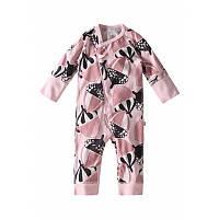 Светло-розовый с желудями комбинезон Nauraa, Размер одежды 50/56 (1-3 мес)