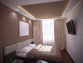 Натяжные потолки спальная. 21