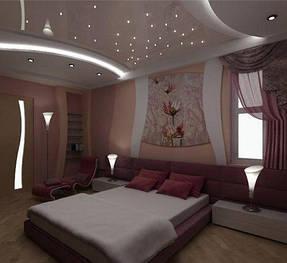 Натяжные потолки спальная. 25