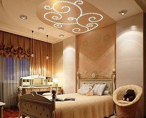 Натяжные потолки спальная. 32