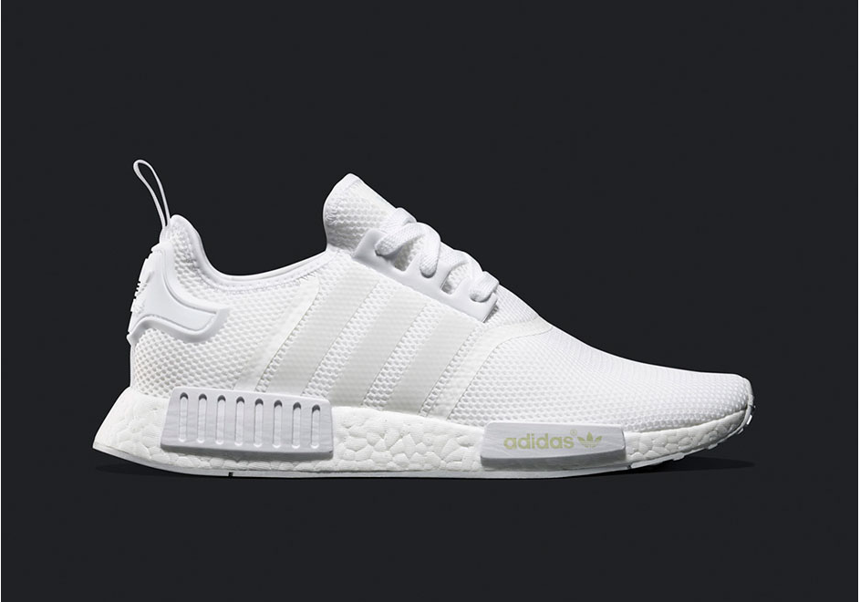huge discount 4f238 0b912 Женские кроссовки Adidas NMD Runner Full White (в стиле Адидас НМД) белые,  сетка