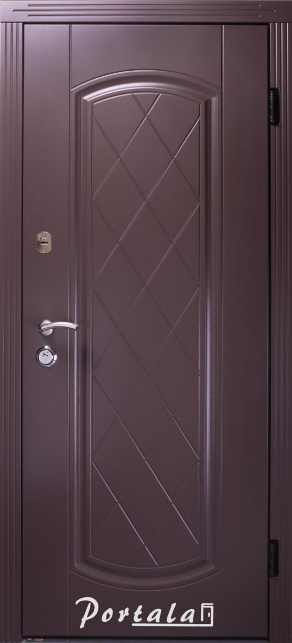 Двери уличные, серия Люкс, крашенный МДФ, модель Шампань, гнутый профиль, коробка 100 мм, полотно 76 мм