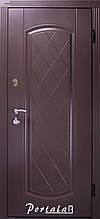 Двери уличные, серия Люкс+КАЛЕ, крашенный МДФ, модель Шампань, гнутый профиль, коробка 100 мм, полотно 76 мм