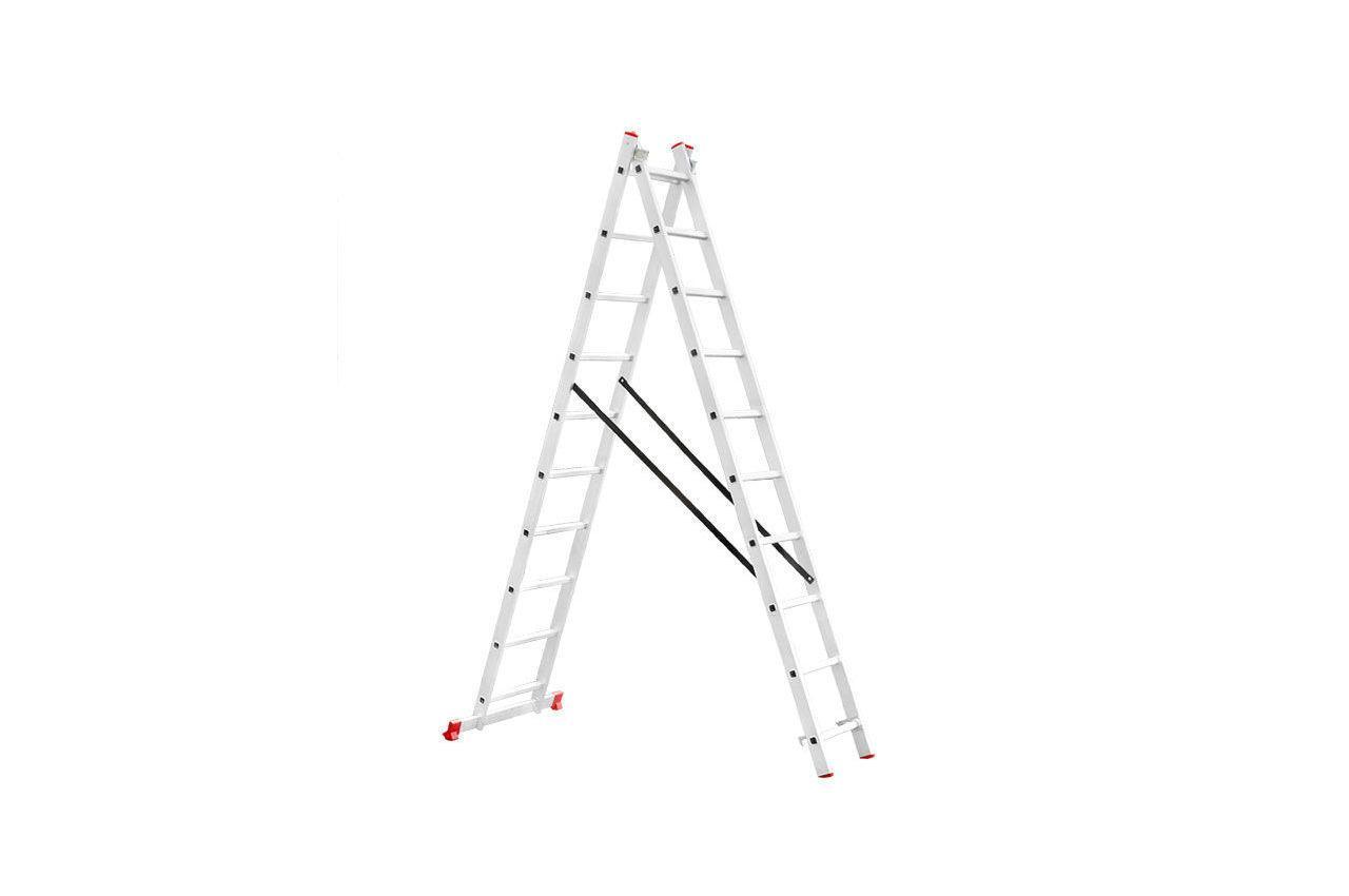 Сходи 2-х розкладна Intertool - 4810 мм х 2x10 ступенів