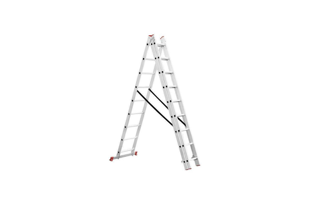 Лестница 3-х раскладная Intertool - 5926 мм х 3x9 ступеней (LT-0309)